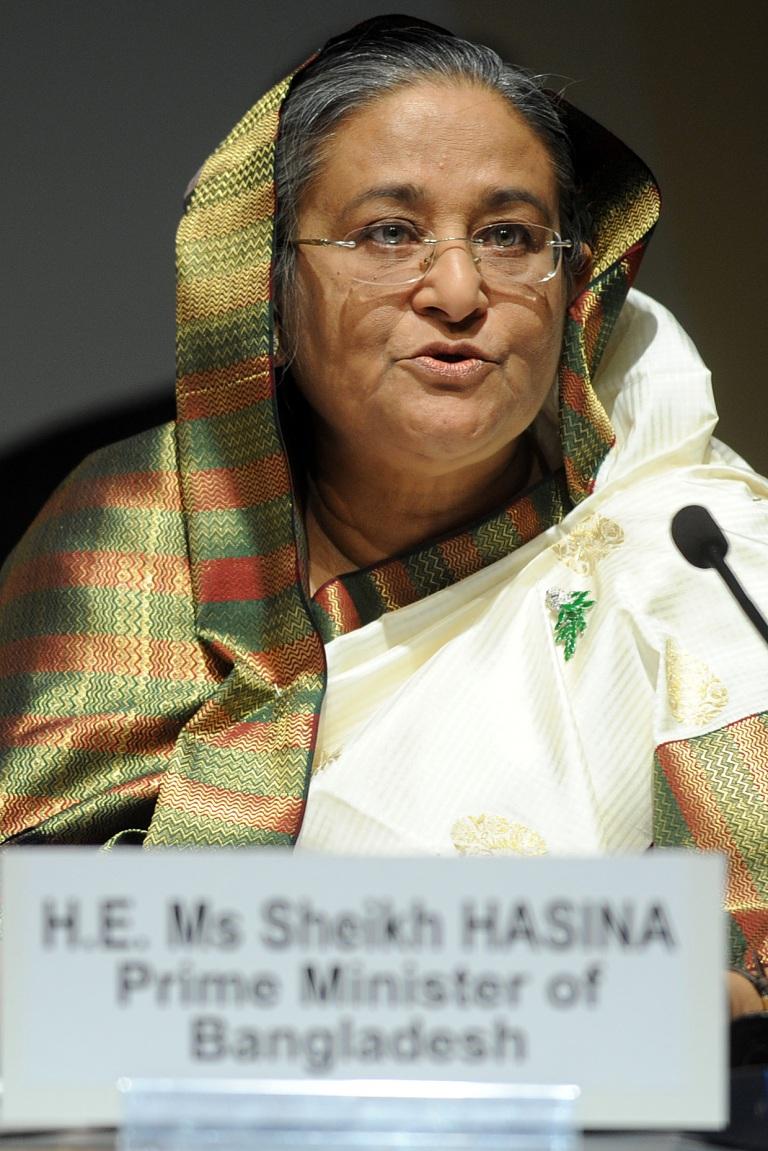 La primera ministra de Bangladesh, Sheikh Hasina